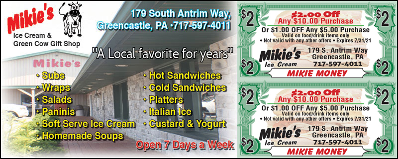 Mikie's Ice Cream Coupon